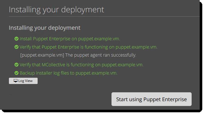 installing puppet enterprise