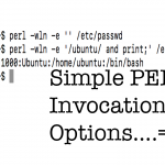 Simple PERL Invocation Options
